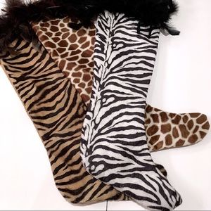 Animal Print Christmas Stockings
